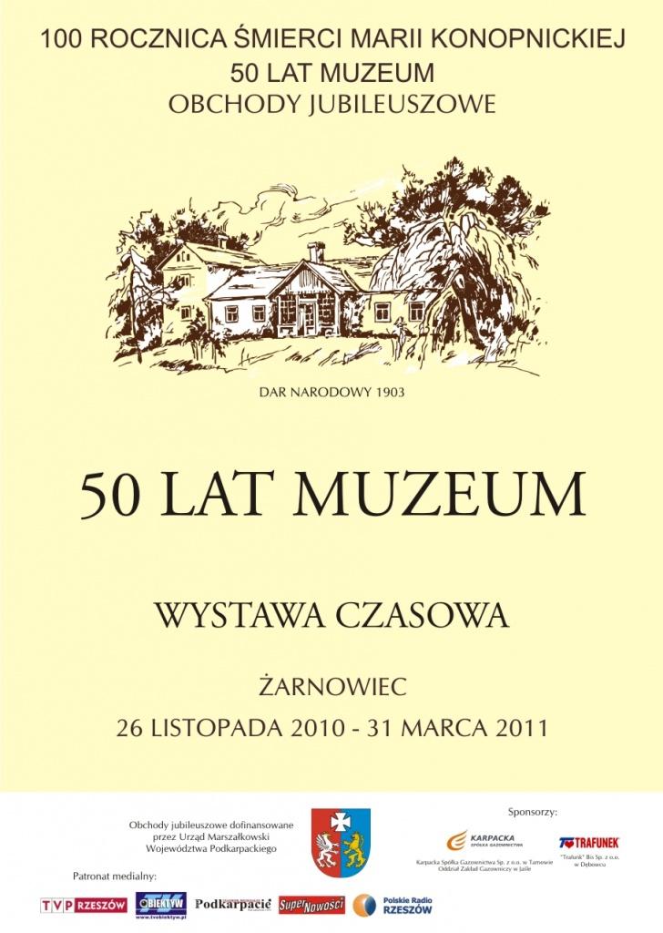 plakat-50-lat-muzeum