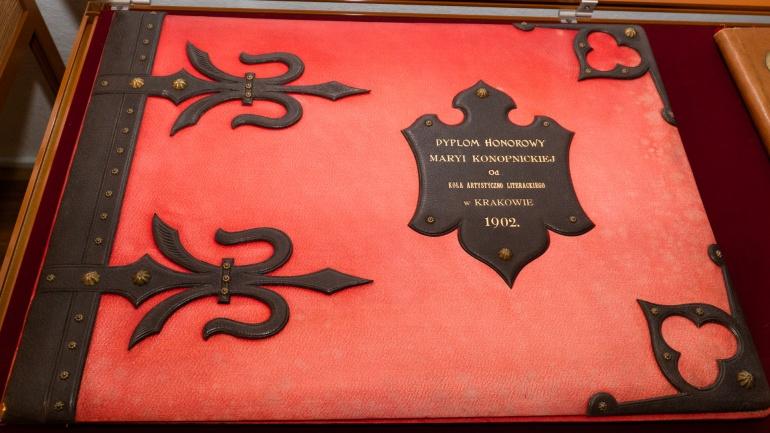 dyplom honorowy Marii Konopnickiej