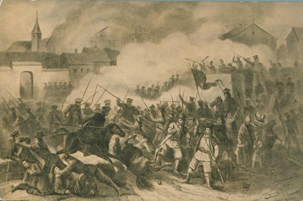 Potyczka w Siemiatyczach 6 lutego 1863 r. - karta pocztowa